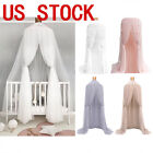 US STO Round Lace Curtain Dome Bed Canopy Netting Princess Mosquito Net Curtain image