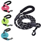 5FT Extra Strong Reflective Nylon Rope Dog Lead Leash with Soft Handle 6 Colors