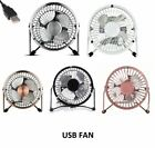 USB Table Fan Mini Portable Desktop Cooling Desk Quiet Fan Computer Laptop PC