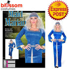 CA954 Blue Maid Marian Dress Up Game of Thrones Deluxe Medieval Marion Costume