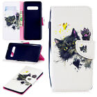 For Samsung Galaxy S10+ S9 S8 Note9 Painted Leather Flip Wallet Stand Case Cover