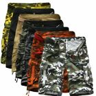 Mens Cargo Shorts Camouflage Sweatpants Casual Work Short Pants Military Combat