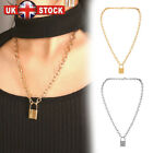 New Lock Pendant Padlock Charm Necklace Chain Women Jewelry Gift Uk Y