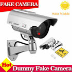 4X 2X Solar Power Dummy Fake Security CCTV Camera LED Light Surveillance Black