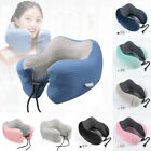 US Memory Foam U Shaped Travel Pillow Neck Support Head Rest Airplane Cushion