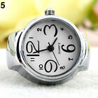 Girl Creative Fashion Stainless Steel Round Elastic Quartz Finger Ring Watch