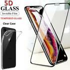 Clear Case Cover 5D Full Tempered Glass Screen Protector For iPhone 6s 7 8 XR XS