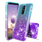 For Lg Stylo 4/stylo 4 Plus/stylo 4 Lte Case Quicksand Diamond + Tempered Glass