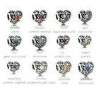 NEW PANDORA BIRTHSTONE SIGNATURE HEART GEMSTONE MONTH S925 ALE CHARM UK