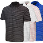 Greg Norman Men's Micro Pique Striped Polo Golf Shirt NEW