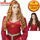 W561 Lady Guinevere Renaissance Medieval Queen Game Thrones Goddess Costume Wig