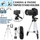 Professional Camera Tripod Stand Mount + Phone Holder for Cell Phone iPhone Bag