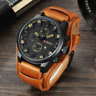 Wristwatches Curren Quartz Mens Watches Leather Boys Watch Casual Sport Watch image