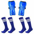 Youth Shin Guards for Kids Soccer Protective Gear Pad Knee High Socks Sleeve