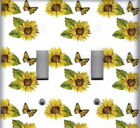 SUNFLOWERS AND BUTTERFLIES KITCHEN HOME DECOR LIGHT SWITCH PLATES AND OUTLETS