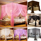 Princess Bed Canopy Mosquito Netting Post Bedding Insect Net Twin Full Queen New image