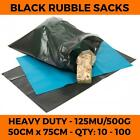 Heavy Duty Black Rubble Sacks - Bulders Bags Refuse Rubbish Waste Garden Large