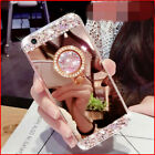 Diamonds Mirror Bling Rhinestone Finger Ring holder stand Cover Case for Xiaomi