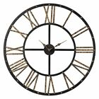 Sterling Roman Numeral Open Back Metal Wall Clock
