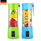 380ML Portable Wiederaufladbare USB-Saftpresse Cup & Bottle Fruit Mixer Machine günstig