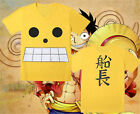 Anime One Piece Monkey D Luffy, mens / boys Costume Cotton T-shirt