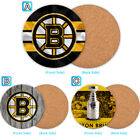Boston Bruins Wood Coaster Cup Drink Mat Pad Placemat Tea $3.99 USD on eBay