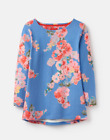 Joules Harbour Ladies Jersey Top  Colour Blue Floral