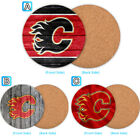 Calgary Flames Wood Coaster Cup Drink Mat Pad Placemat Tea $3.49 USD on eBay