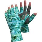 Glacier Glove Islamorada Fingerless Sun Gloves - Green Water Camo