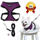 Dog Harness with dog Leash Best No Pull Step in Adjusted Soft Mesh Padded Vest
