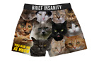 Brief Insanity You Had Me At Meow Cats Kitty Faces Boxer Shorts Underwear 7209