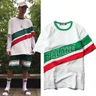 Men's T-shirt Hip-hop Skateboard Womens Cotton Summer Tee Letter Print Tops M-XL