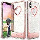 For iPhone 11 Pro Max XR XS Max Bling Glitter Clear Case Girl Cover Bumper Slim