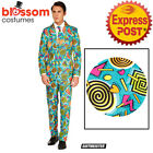 CA1032 Suitmiester Retro Blue 90s Icon Funny Comic Oppo Suit Opposuits Costume
