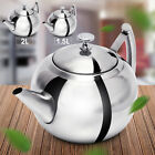 '1.5l/2l Stainless Steel Teapot Infuser With Removable Filter Strainer Kettle
