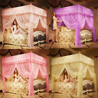 Princess 4 Corners Post Bed Curtain Canopy Mosquito Net Twin Full Queen King  image