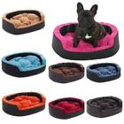 Luxury Soft Washable Dog Pet Warm Basket Bed Leather Cushion with Lining MOLLY