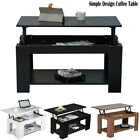 Modern Living Room Lift Up Top Coffee Table Side Table Tea End Table Black White