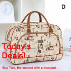 Large Capacity Travel Stripe Bag Luggage Waterproof Print Hand Bag Duffel Women