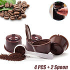 Reusable Coffee Capsules Pod Filter Refillable for Dolce Gusto Nescafe with Spoo