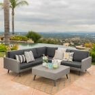 Tahiti Wicker 4 Piece Patio Sectional Sofa Set