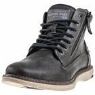 Mustang Lace Up Boot Mens Dark Grey Synthetic Chukka Boots