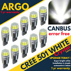 501 Led White T10 Xenon Car Bulb W5w Canbus Error Free Number Plate Side Light