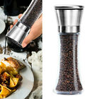 Kitchen Salt and Pepper Grinder 6oz Stainless Steel Mill Shakers Easy Use Fill