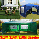 3x3 3x4 3x6M Gazebo Outdoor Party PE Tent with Sides Canopy Cover Shelter Cheap