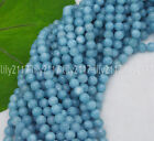 Natural 6/8mm Blue Larimar Gemstone Round Beads Water Pattern Loose Beads 15''