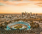 DODGER STADIUM Photo Picture LOS ANGELES DODGERS LA City Skyline Dusk 8x10 11x14 on Ebay