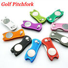 Portable Golf Divot Repair Switchblade Pitch Groove Clean Golf Pitchfork Tool