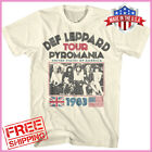 Def Leppard Men's T-shirt Pyromania USA Tour 1983 Rock Band Concert Merch S-6XL image