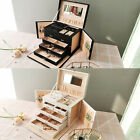 Large Jewellery Box Cabinet Earrings Ring Necklace Bracelet Storage Organizer